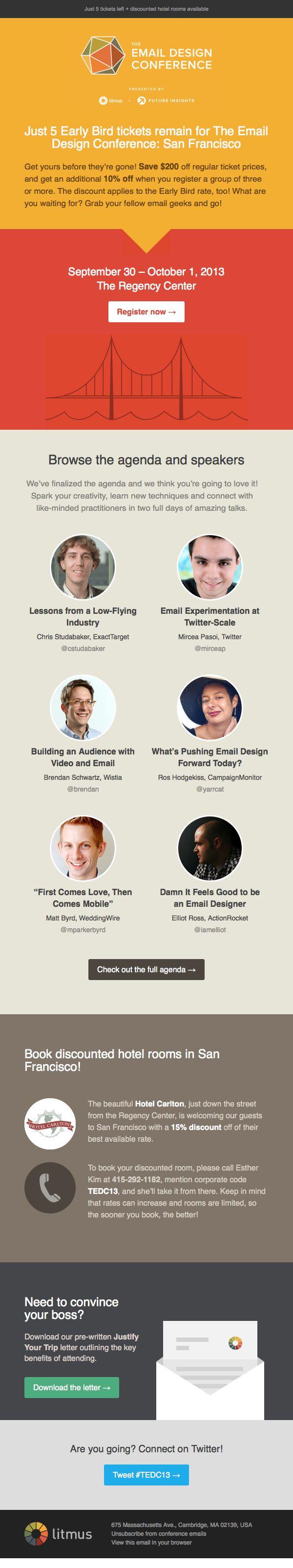 Litmus email newsletter design, responsive, email conference