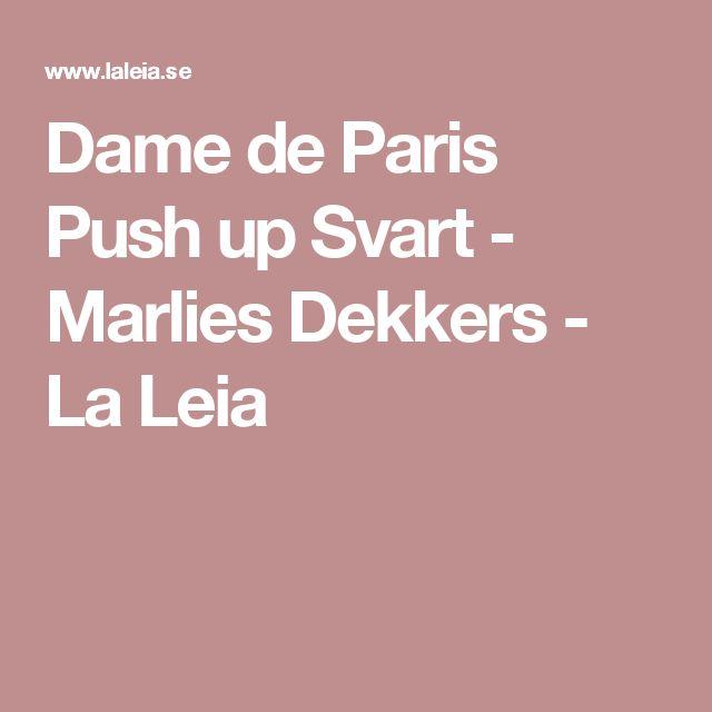Dame de Paris Push up Svart - Marlies Dekkers - La Leia