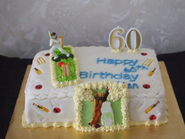 This 60th man's cake was a cricket theme cake with cricket patchwork cutters   Cakes For All Occasions Mosgiel Otago New Zealand www.icedcakes.co.nz