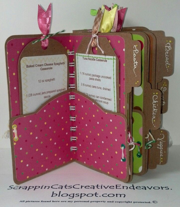 scrapbooking recipe book ideas   Designing my own mini file folders allowed me to get fancy with the ...