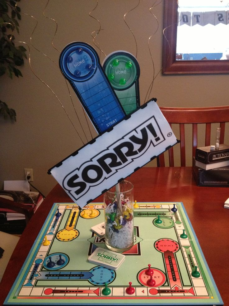 Sorry boardgame centerpiece Board games Gambling quotes