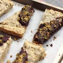Pistachio Shortbread with Chocolate Ganache - we are making this over ...