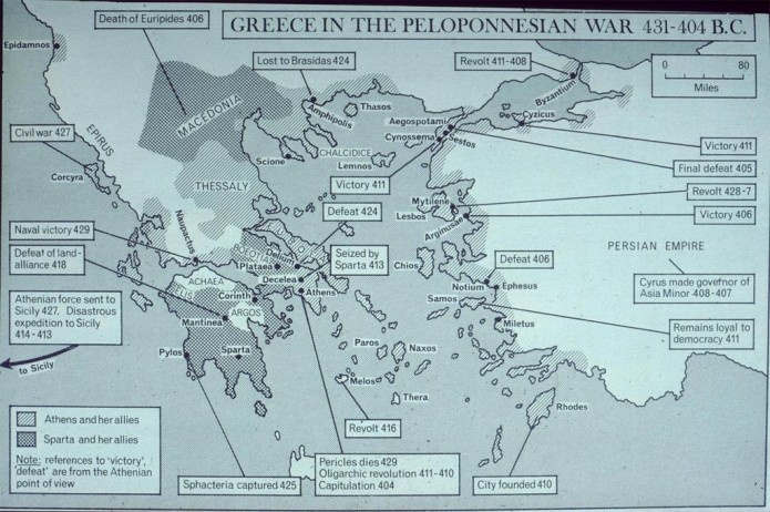 a brief history of the peloponnesian war in 431 bc As a result the peloponnesian war broke out, and the spartans allied with the  the athenians, putting the athenian empire in the middle (431-404 bc)  the treaty in the eighth book of his history of the peloponnesian war, which  king xerxes had briefly added thessaly, boeotia, and attica in 480-479.