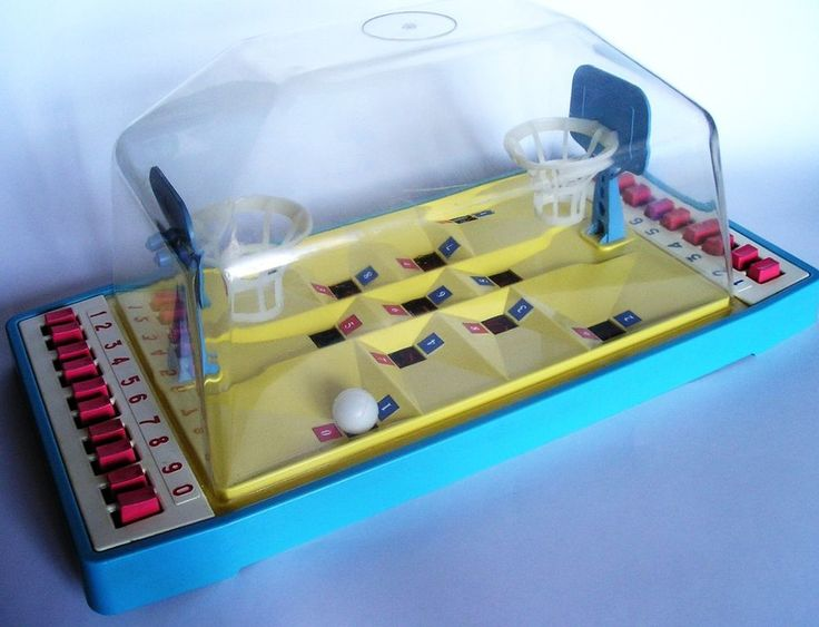 Vintage Soviet Russia USSR table game basketball, toy