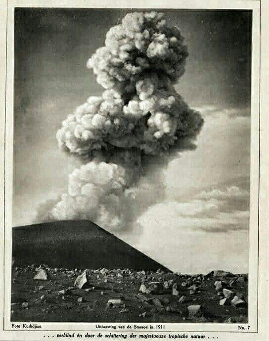 Uitbarsting van de Smeroe, Oost Java 1911.