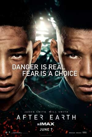After Earth with Will Smith and Jada Smith.