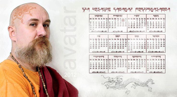 """Дизайн календаря """"Немного буддизма"""""""
