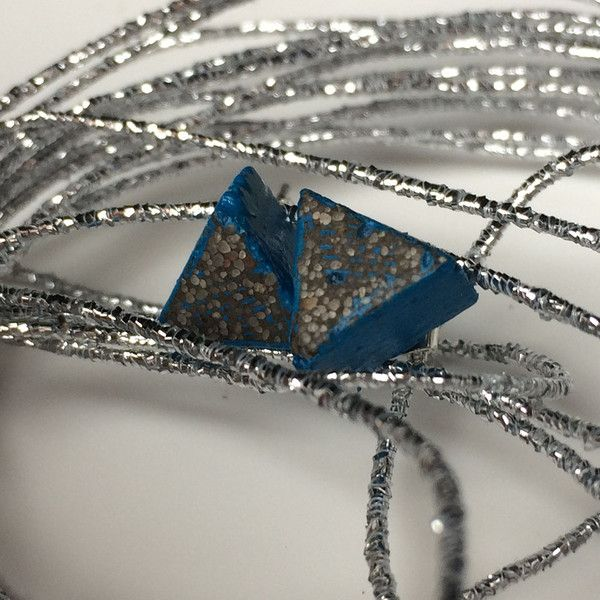 Stud Earrings – Beautiful industrial grey-blue STUD EARRINGS – a unique product by ConcreByAludana on DaWanda