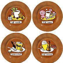 4 assiettes : Café noisette - P'tit Caoua - Cappuccino - Café viennois