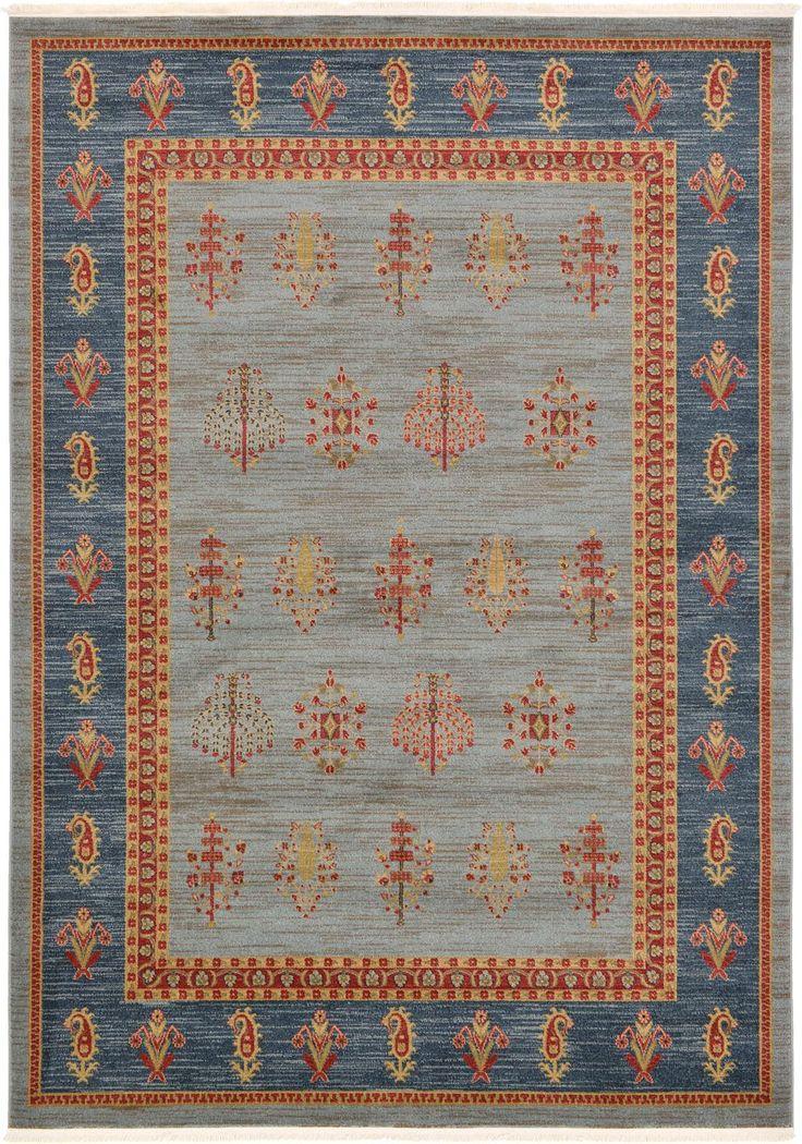 Light Blue 7' x 10' Kashkuli Gabbeh Rug | Area Rugs | eSaleRugs