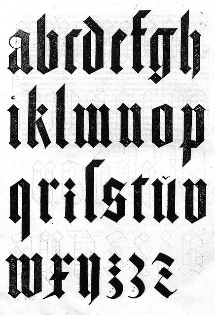 Old English style font! by Jüstin Doom, via Flickr