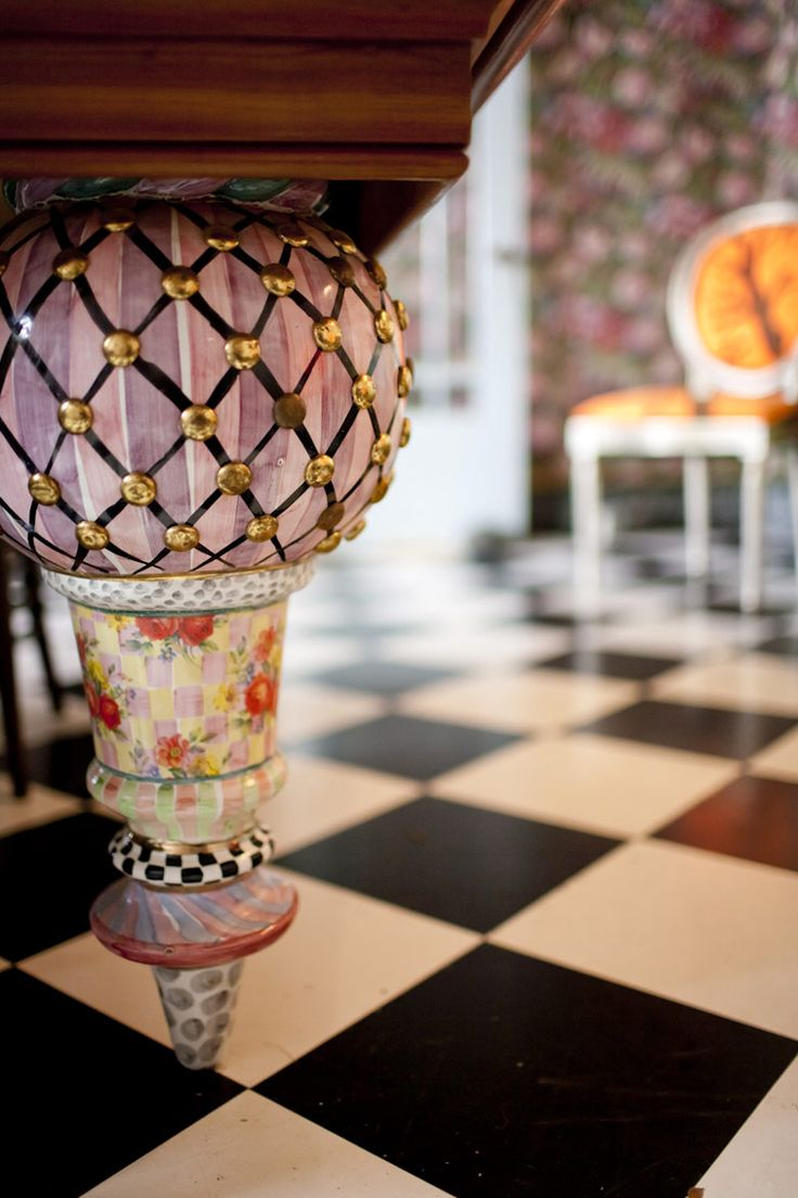 Mackenzie Childs table leg. The detail in every piece is magnificent.