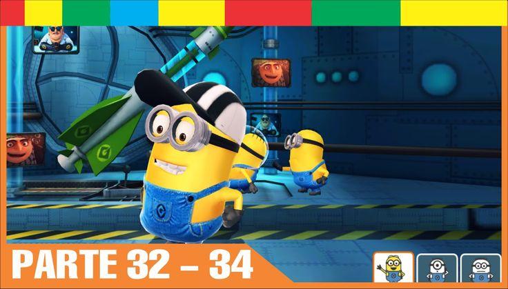 Despicable Me Minion Rush Espanol Completa nivel 32 33 34 Minions Juegos Para Niños y Bebes Español - YouTube