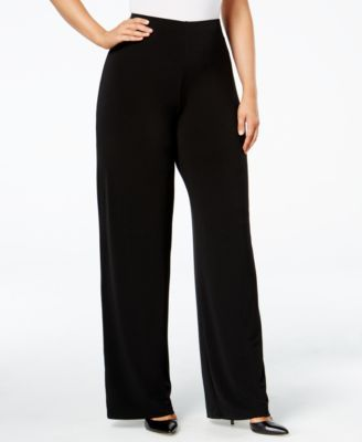 Plus Size Knit Wide-Leg Pant, Created for Macy's 3