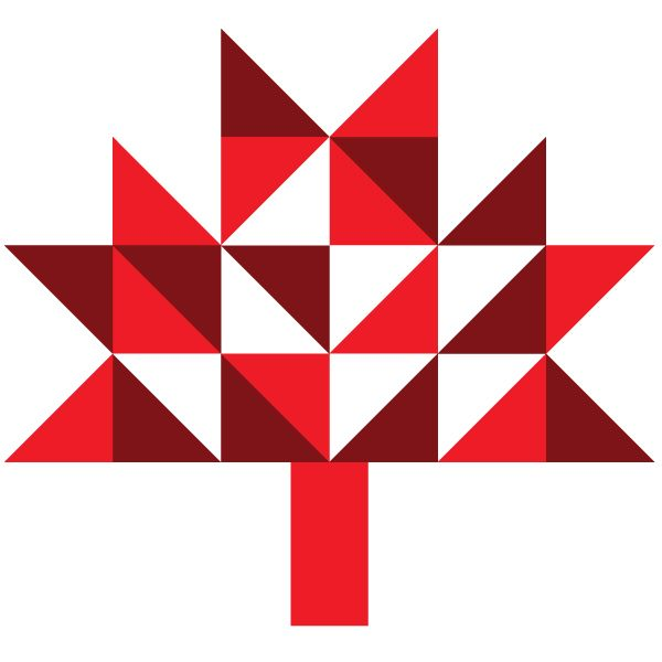Oleander and Palm: Geometric Canada Day Bunting