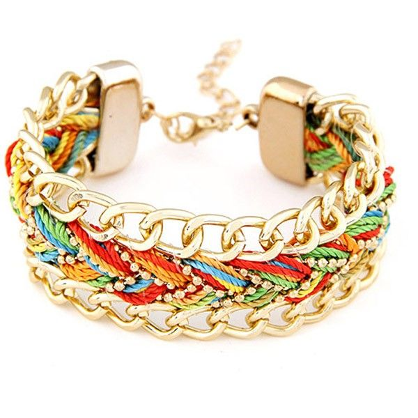 This item is Fashion Adjustable Alloy Chain Braid Bracelet Woman Jewelry. According to your own personal preferences, you can match it with beautiful clothes at different seasons. The following occasions, anniversary, engagement, gift, party, wedding, etc. are propitious to wear it.
