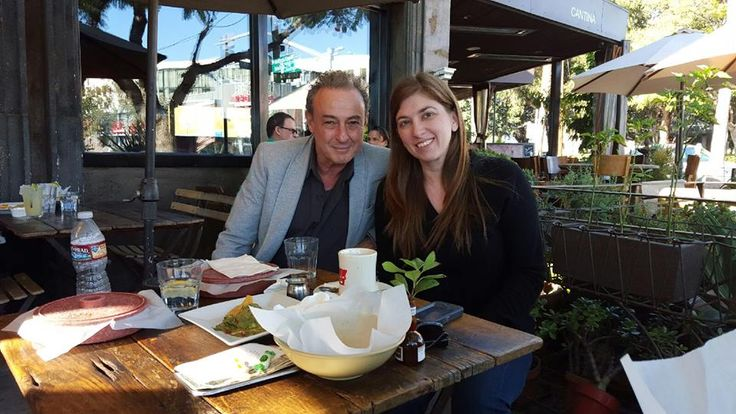 Ginger Gentile at a lunch meeting with LA Actor Jaco Pitchon