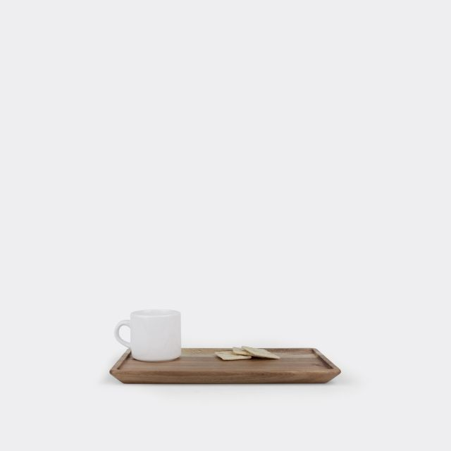 One Portion Size Rectangular Snack Platter + Glass Tray