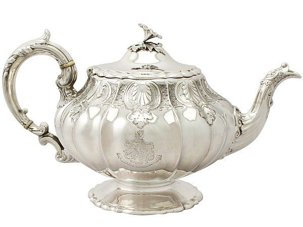 Sterling Silver Teapot - Antique Victorian SKU: A4391 Price GBP £1,395.00 http://www.acsilver.co.uk/shop/pc/Sterling-Silver-Teapot-Antique-Victorian-49p8193.htm