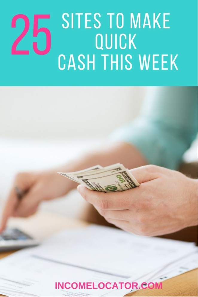 Earn Extra Cash: 25 Sites to Make Money This Week
