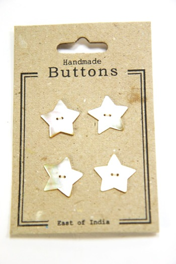Shell Star Buttons