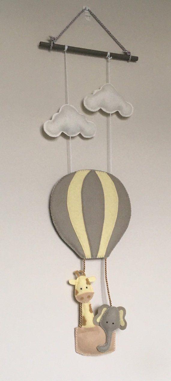 Hot Air Balloon Nursery Wall Hanging