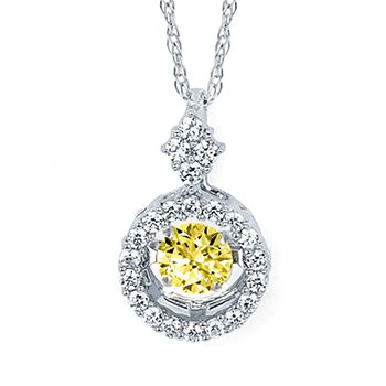 Shimmering Diamonds® Circle Pendant In 14K Gold With 1/3 Ctw. Diamonds