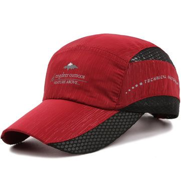 Moda Hombre Mujeres al aire libre Escalada viseras de secado rápido sombreros de béisbol casual respiradero Net Cap
