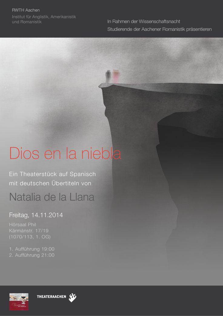 """""""Dios en la niebla"""" Theater, Poster"""
