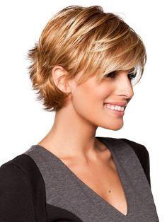 short sassy hair | Short Haircuts For Fine Hair – With a Bang (I wonder if my hair would look like this?...)