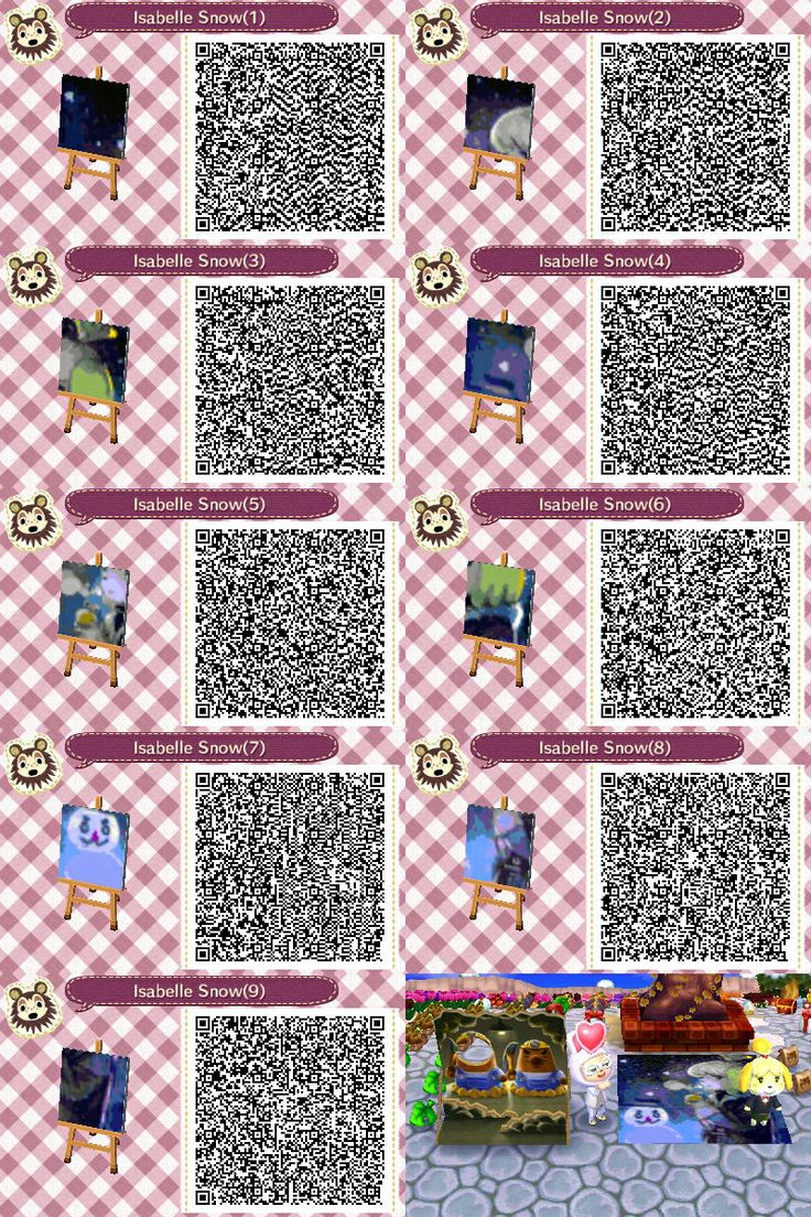 Isabelle in the snow mural animal crossing new leaf qr for Animal crossing mural