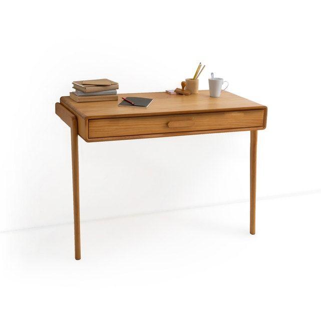 Bureau Console Vintage Colas In 2020 Console Desk Oak Veneer Desk Oak Console Table