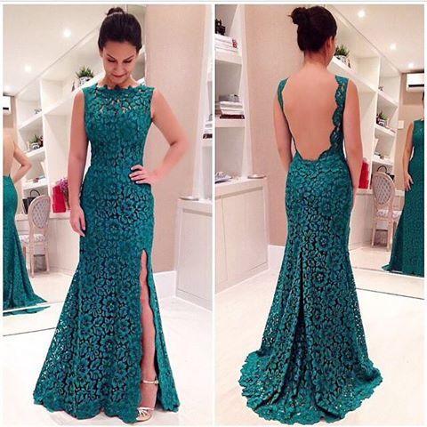 Vestido longo de renda.  Lindo e perfeito ♥ Long lace dress Beautiful and perfect
