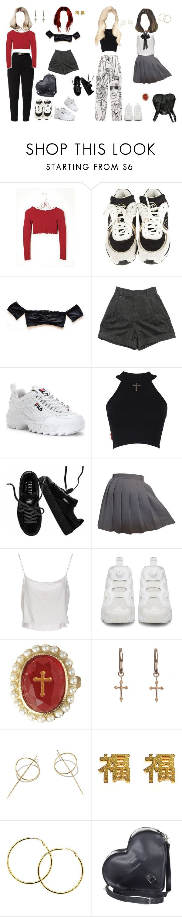 """????"" by caffeinecold ❤ liked on Polyvore featuring Free People, Chanel, OneTeaspoon, Chloé, Fila, Puma, COS, Jean-Paul Gaultier, Reebok and H&M"