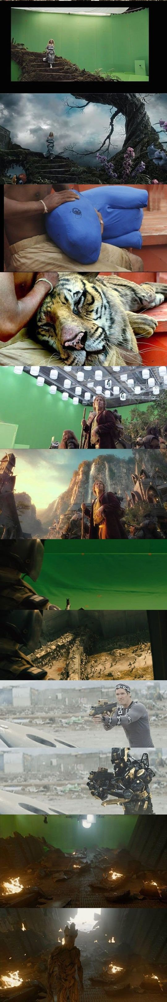 The Meta Picture ~ Movie, Before & After // #thelifeofpi #aliceinwonderland #movie #disney #greenscreen #beforeandafter #thehobbit #lordoftherings #marvel #guardiansofthegalaxy