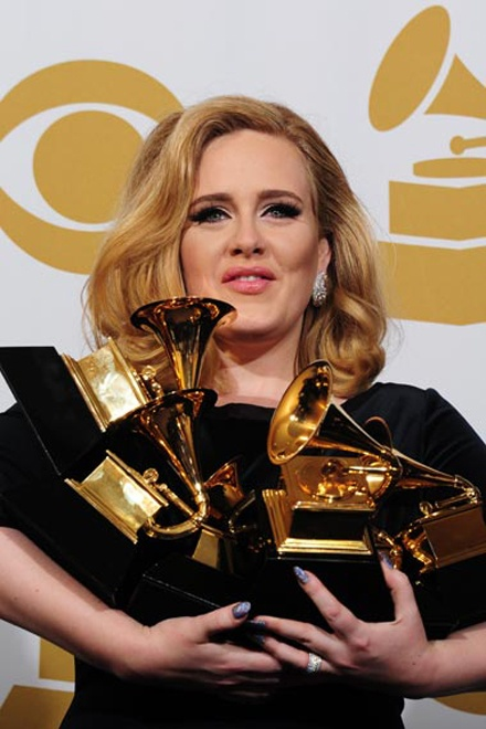 The Grammy Awards 2012 http://www.glamourvanity.com/hot-celebrity-news/grammy-2012-winners/: Future Life, 2012 Grams, Awards 2012, Press Rooms, Manifest, Inspiration Performing, Grammi Awards Statues, Photo, Adele Won