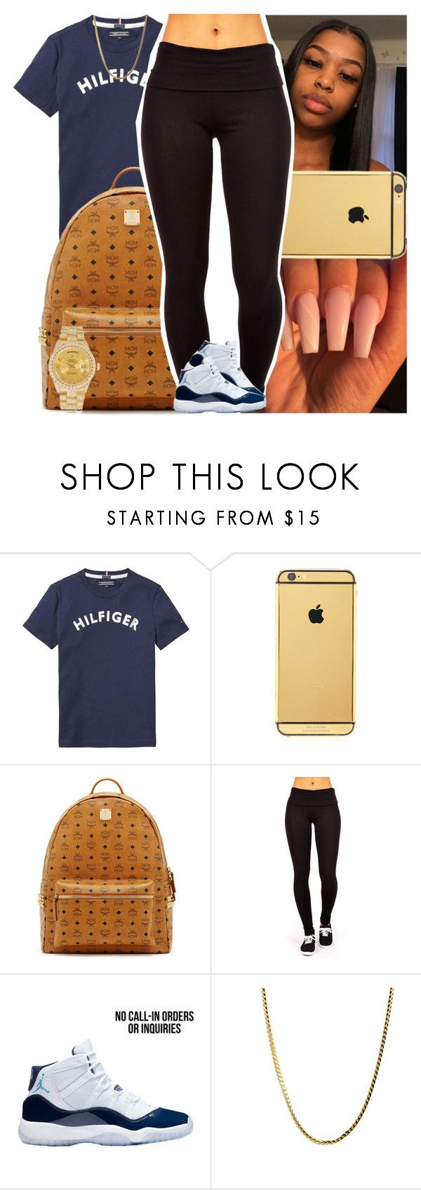 """Untitled #1433"" by msixo ❤ liked on Polyvore featuring Tommy Hilfiger, Goldgenie, MCM and Rolex"