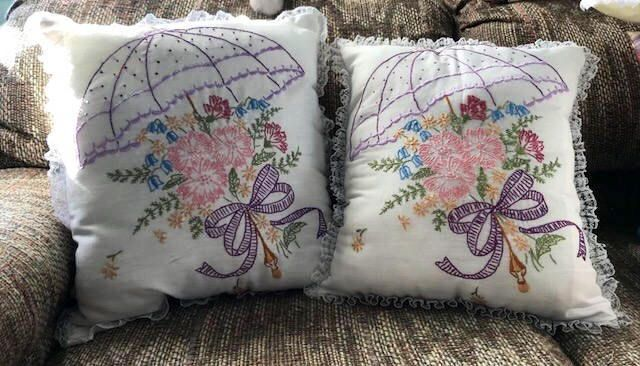 Embroidered Pillow - Decorative Pillow - Accent Pillow - Embroidered Cushion - Cushion - Bedroom Decor - Housewarming Gift - Gift for Mom