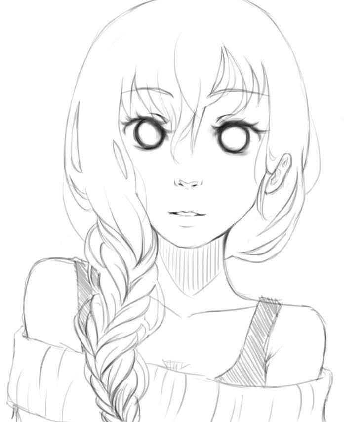 How to draw anime hair female braids