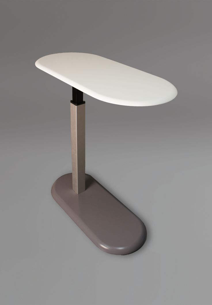 Tablet table, an accessory table with a Corian solid surface work top.