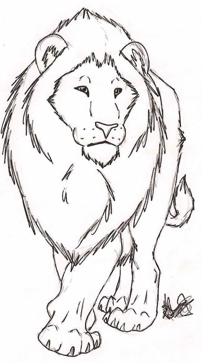 Картинка льва срисовать