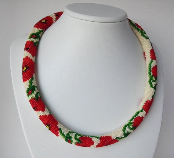 Hey, I found this really awesome Etsy listing at https://www.etsy.com/listing/279540756/poppies-necklace-office-jewelry-flower