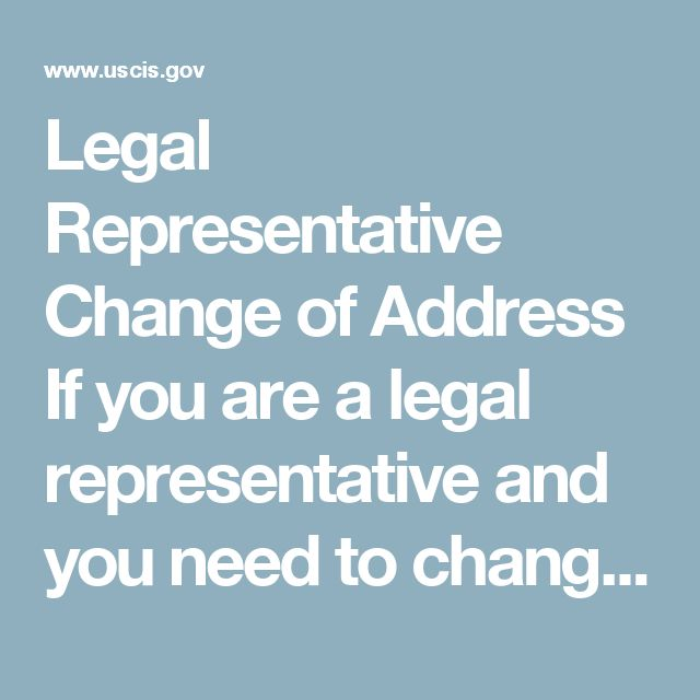 """Legal Representative Change of Address  If you are a legal representative and you need to change your address on file with USCIS, you may do so by doing one of the following:  Submit a new Form G-28 for every pending case and include the receipt number, OR Submit a letter on your office stationery that clearly states """"ATTORNEY CHANGE OF ADDRESS."""" Your letter must include a spreadsheet of pending cases with the form type, receipt number, A-Number, and the customer's name listed for each case…"""