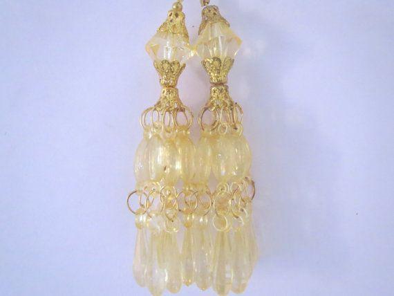 blond Glass Bead Traditional Tassel/ by CraftyJaipur on Etsy