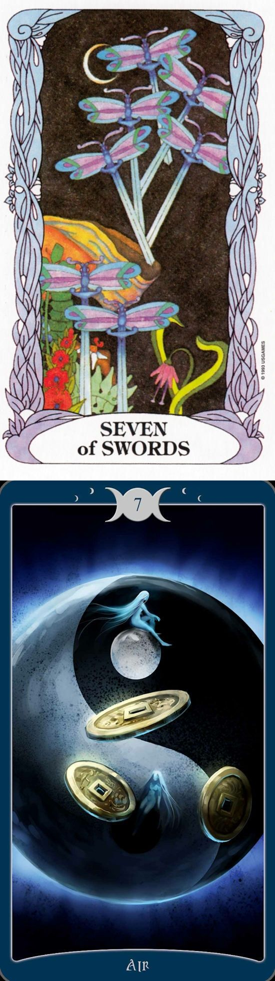 Seven of Swords: pressure to be dishonest/deceptive to succeed in your ambition and become honest (reverse). Moon garden Tarot deck and Book Of Shadows Tarot deck: internet tarot reading, free tarot reading predictions vs free online tarot reading. Best 2018 tarot spreads layout and psychic readings free. #oldways #justice #witchy #divination