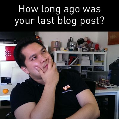 How Long Ago Was Your Last Blog Post?  --> http://www.gcds.com.au/blog/how-long-ago-was-your-last-blog-post  Read our latest blog post about your last blog post :P  #blog #blogpost #blogging #business #marketing