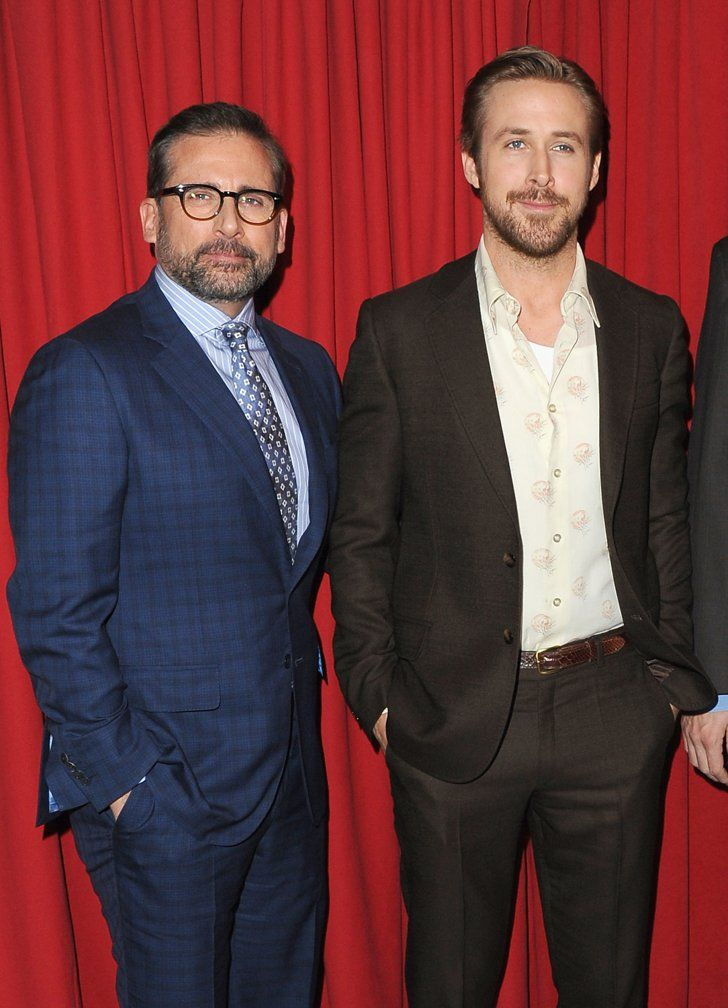 Pin for Later: Ryan Gosling and Steve Carell Gear Up For the Gloden Globes at the AFI Awards  Pictured: Steve Carell and Ryan Gosling