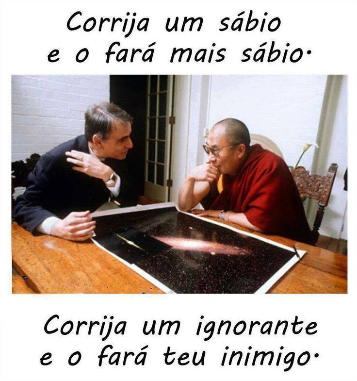 corrigir um sabio e corrigir um ignorante