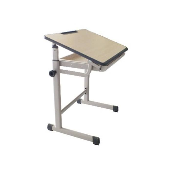 Meja ARCH  Konstruksi pipa holo finishing powder coating & pelindung kaki PVC tebal 1.8mm top desk board finishing HPL dengan edging PP/ABS injection tahan gores warna beige. Drawer dengan tempat peralatan tulis Ketinggian meja bisa diatur sudut kemiringannya & dilengkapi tempat pensil. Uk. p x l x t = 700 x 500 x 730mm  Rp.2.277.000 Termasuk Kursi (tipe centro)  Rp. 1.604.000 Meja saja . #MediaInovasi #PeralatanKantor #ComputerAndSuplies #FurnitureAndFillingSystem #OfficeAutomation…