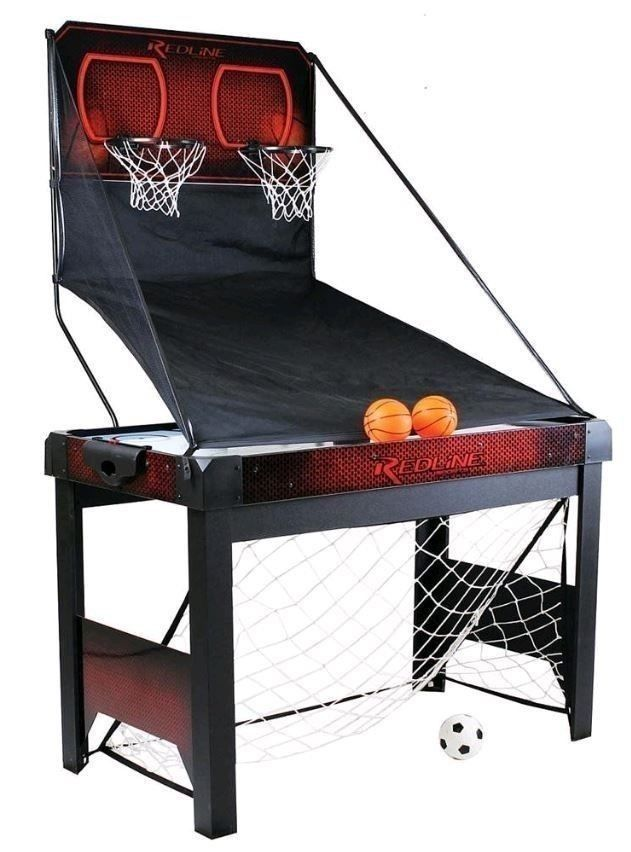 3-in-1 Basketball/Soccer/Air Hockey Table Game Room Net Multi Entertainment NEW!